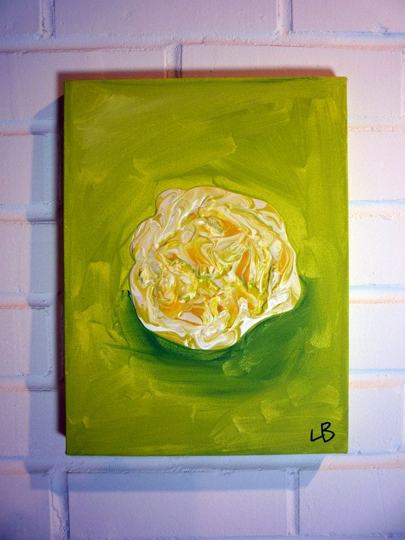 Original Painting Scrambled Egg Blob 9x12 by LoganBerard on Etsy