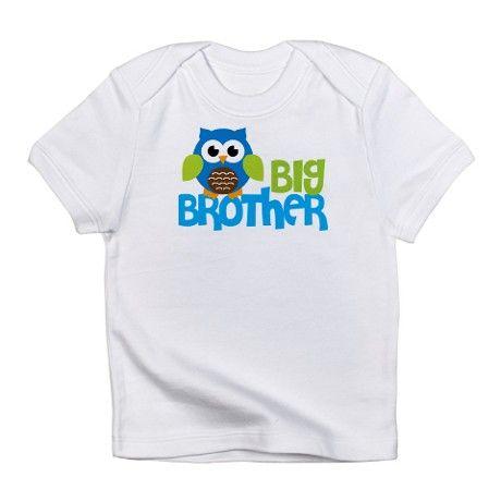 d1887e51 Happy Owl Big Brother Infant T-Shirt on CafePress.com   Carson ...