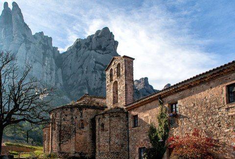 Monasterio de Sta. Cecilia de Montserrat, comarca catalana del Bages (Barcelona).