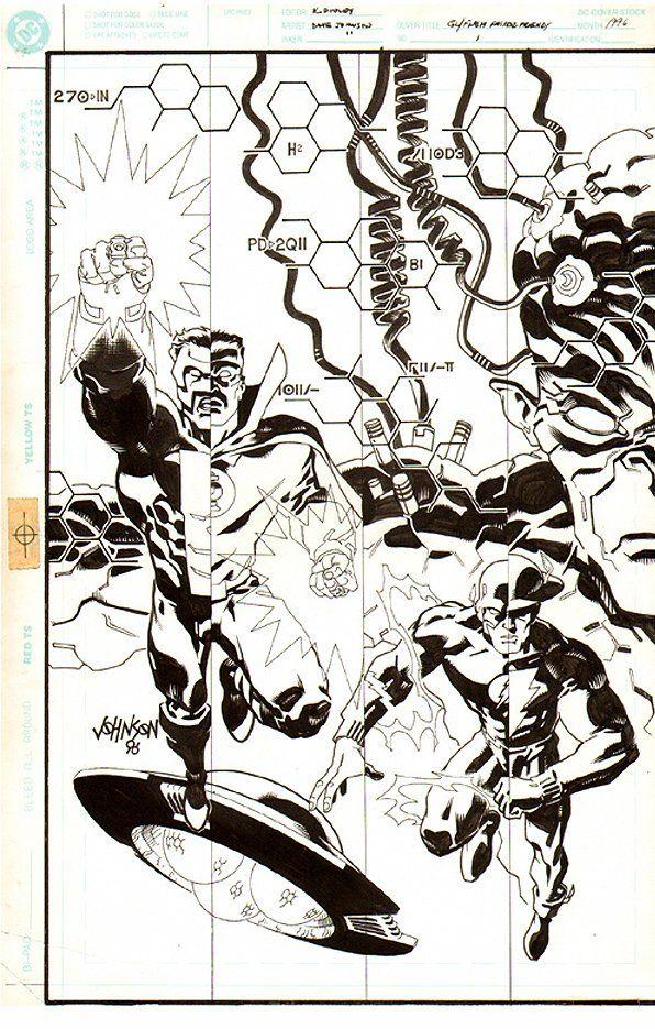 Green Lantern & Flash: Faster Friends 1 (1996)  By Artist Dave Johnson  - W.B.