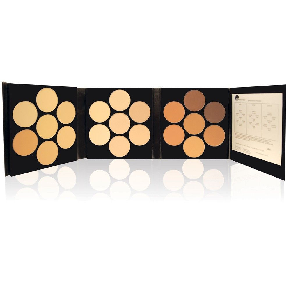 A Makeup Artist Must Have! Glominerals Pressed Base Magazine in 21 shades. Amazing for private clients with sensitive skin, photographs beautifully and provides a flawless canvas for HD television.