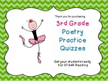 3rd Grade Poetry STAAR Practice | Staar reading, Reading ...