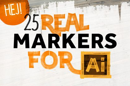 25 real marker for illustrator free add ons pinterest 25 free real marker for illustrator solutioingenieria Images