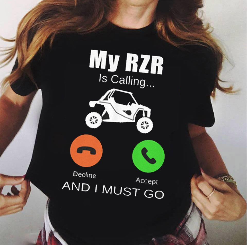 New Polaris RZR Racing Logo Mens Black T Shirt