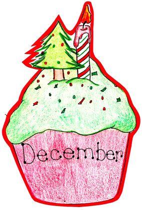 December Birthday Cupcake | SÜNNIPÄEVAD | December ...