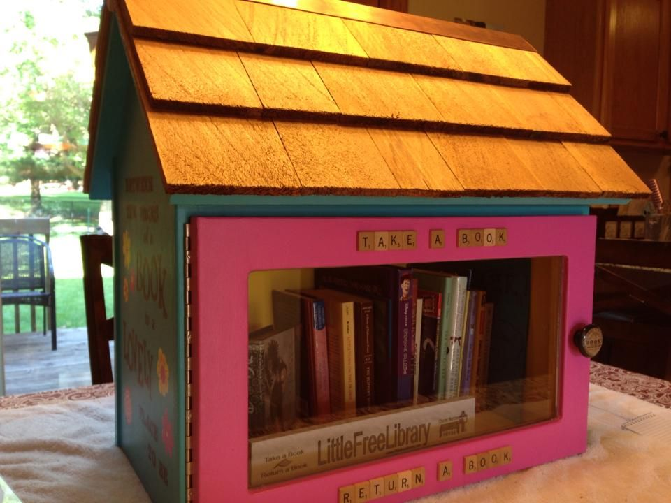 Sierra Wicks' Little Free Library in Johnston, IA