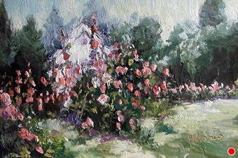 The Flower Garden by Susan Renee Lammers Oil ~ 4 x 6