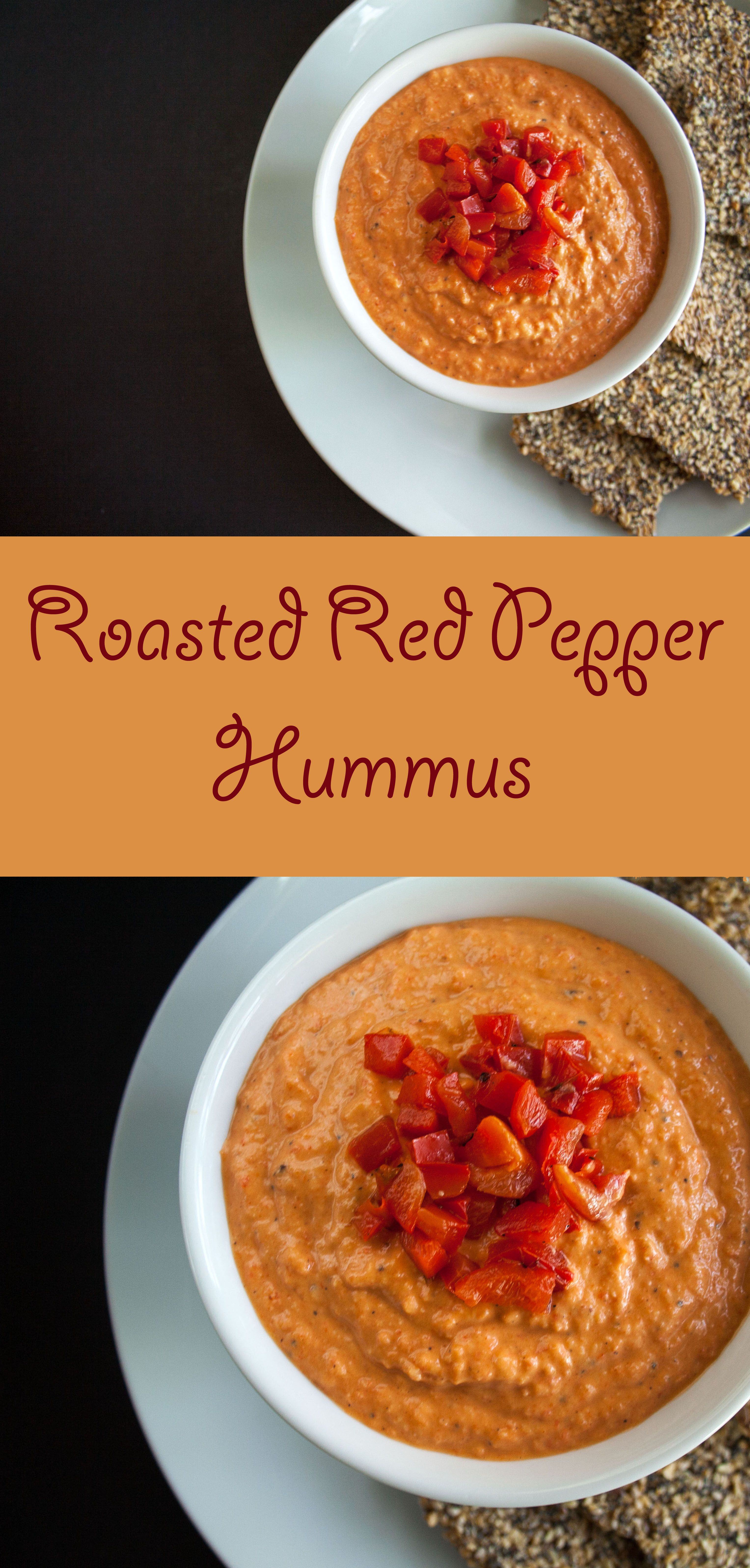 Roasted Red Pepper Hummus This Hummus Is Easy To Make Is Better