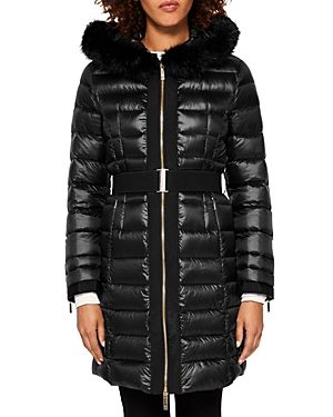 72bb7c292f0b1 TED BAKER AMANDEA FAUX FUR-TRIM HOODED DOWN COAT.  tedbaker  cloth ...