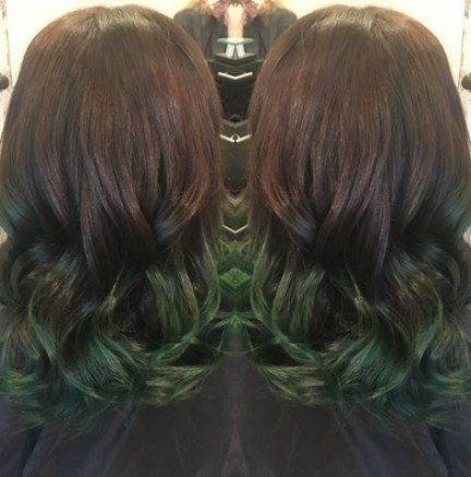 Hair green ombre brown 56+ trendy Ideas | Green hair ombre ...