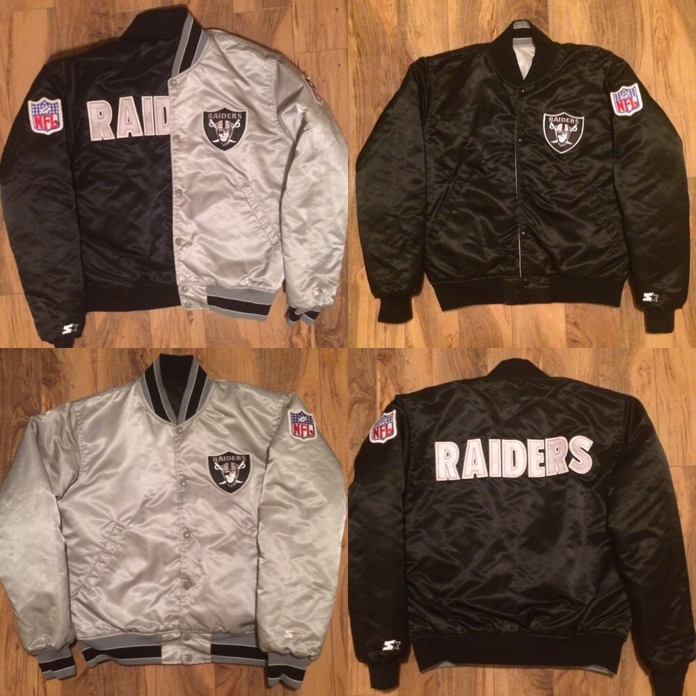 the best attitude 9d955 aa27a VINTAGE RAIDERS REVERSIBLE STARTER JACKET SIZE MEDIUM LIKE ...