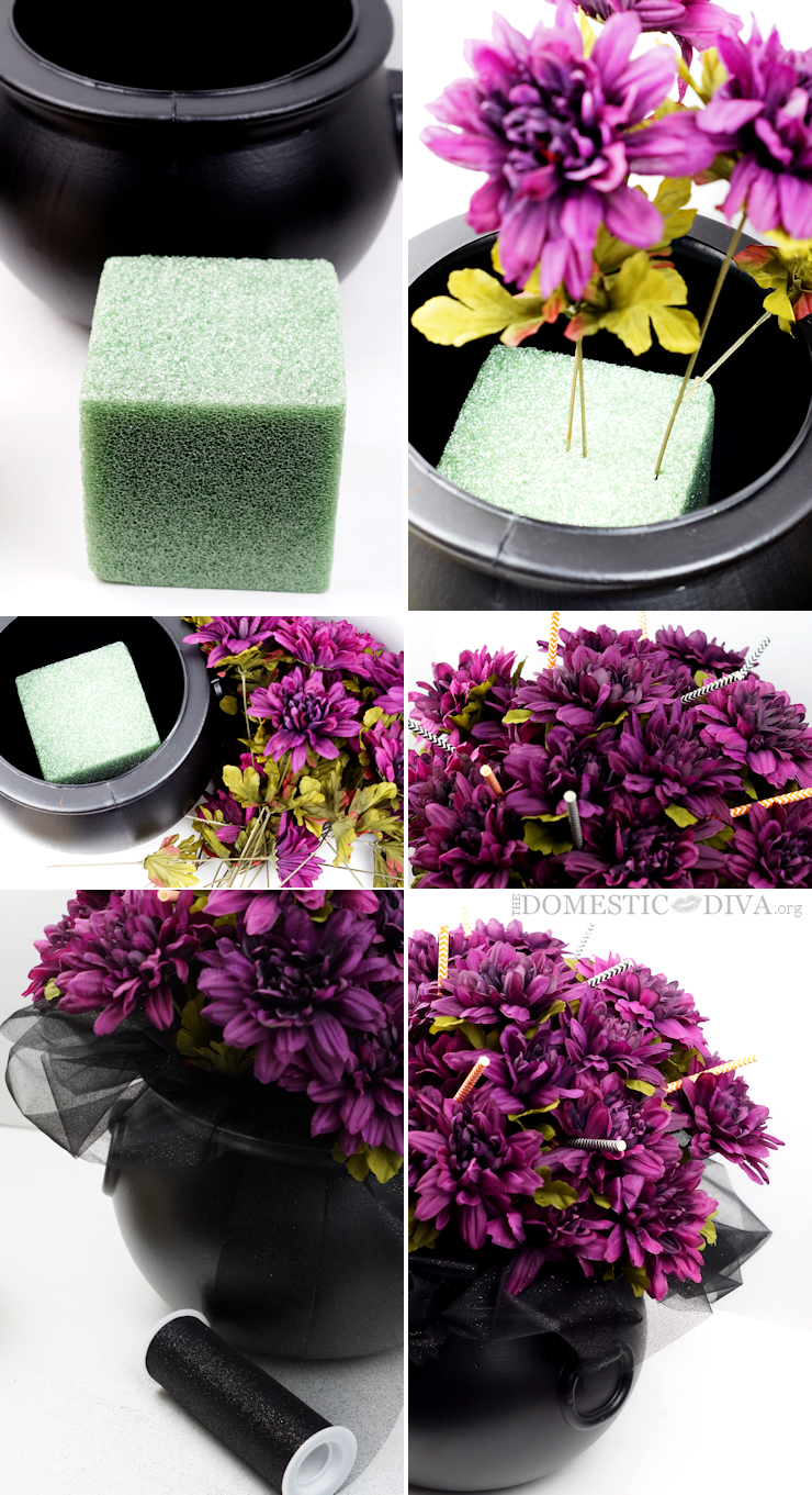 Watch DIY Tutorial : How To Make Centerpieces From Grocery Store Flowers video