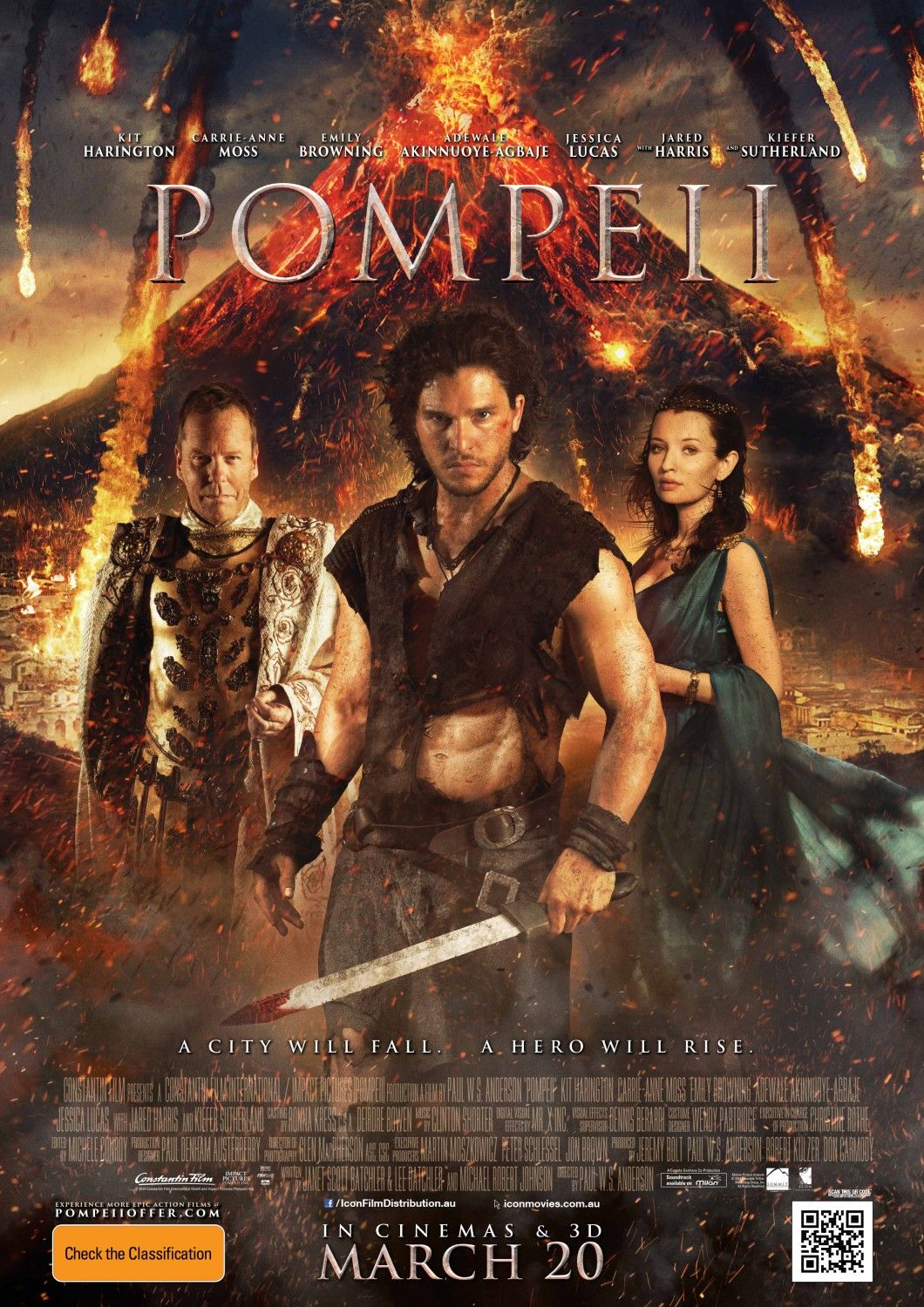Image result for pompeii poster