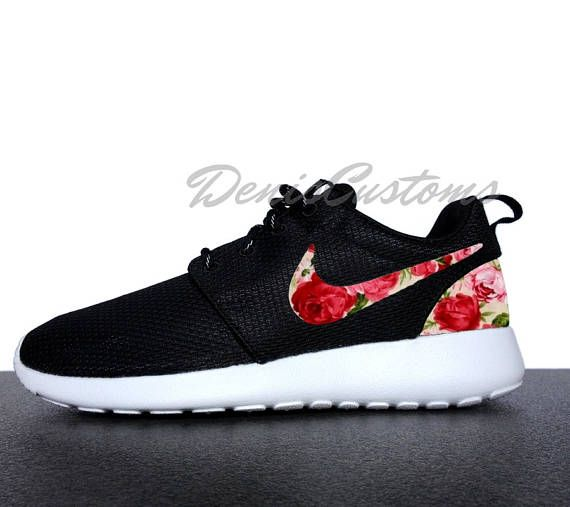 86828afd5288 where to buy customized nike roshe one runs with custom pink red green rose  floral print