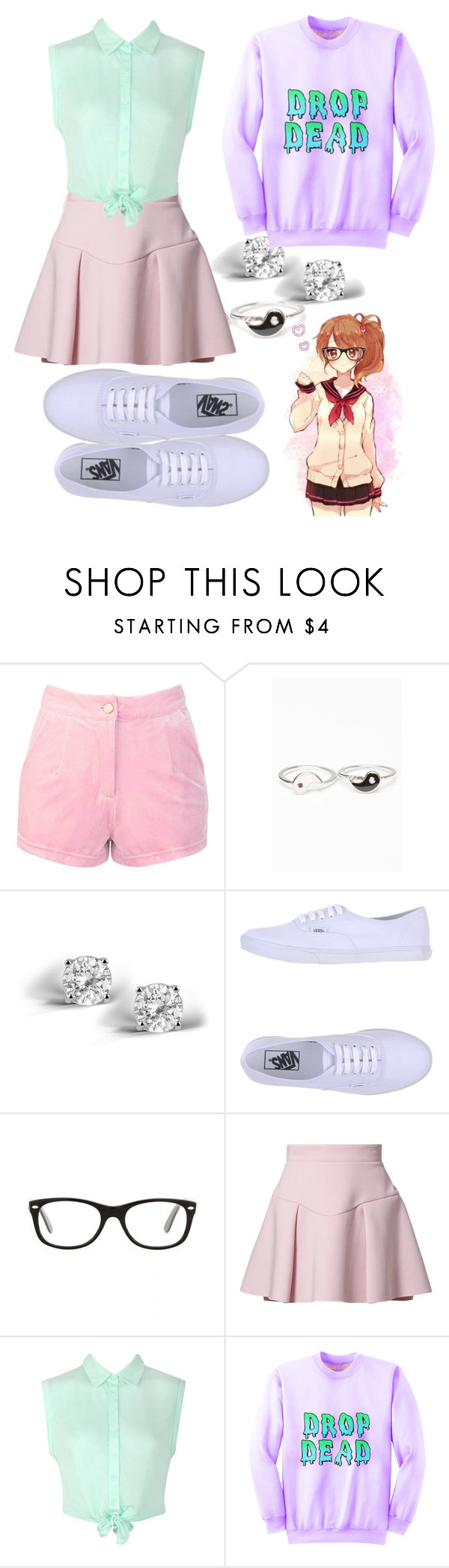 """""""Anime outfit tag ;3"""" by unicorns-are-magical ❤ liked on Polyvore featuring Glitzy Rocks, Vans, CHI, Ray-Ban, Just Cavalli, Ally Fashion and As Is"""