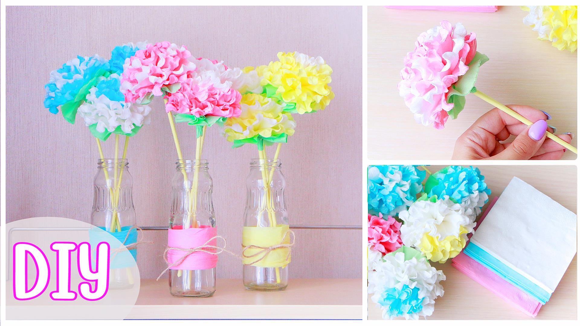 Diy Paper Napkin Flowers Httpsyoutukjenk3yx66k