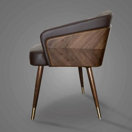 Modern Solid Wood Leisure Chairs - 4