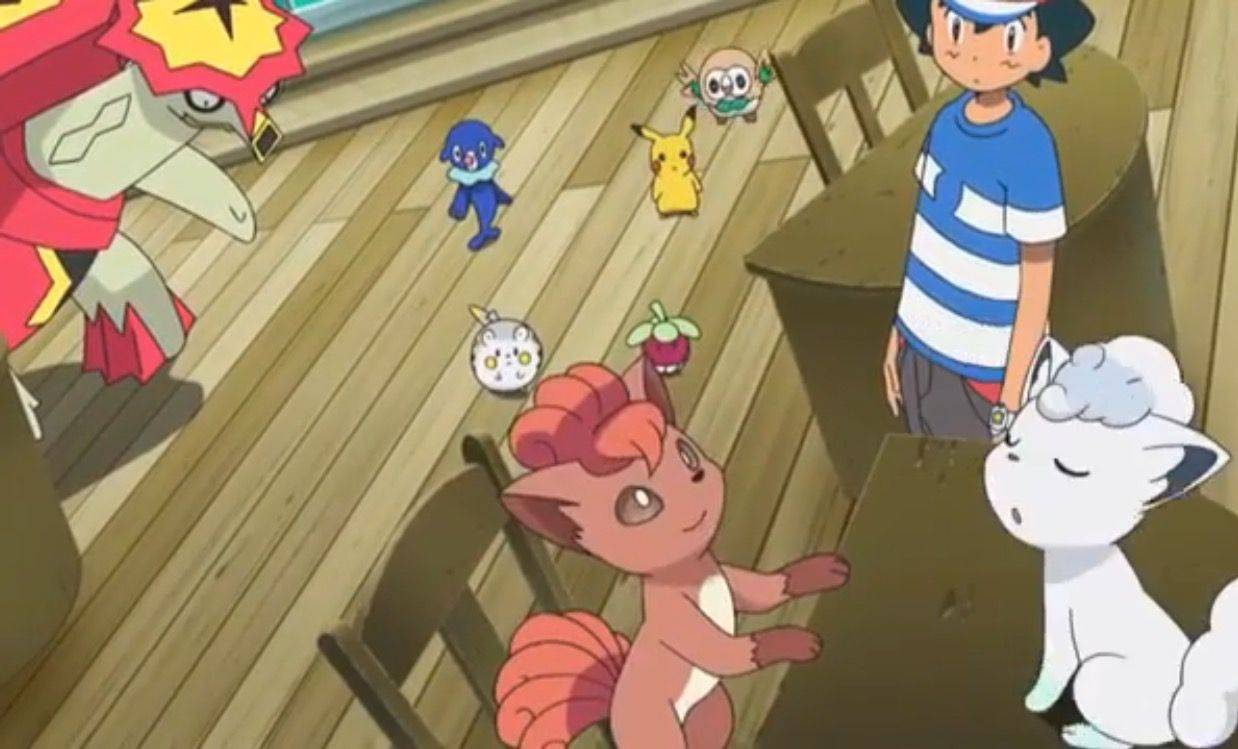 Kanto and Alolan vulpix in episode 14 of Pokémon sun and moon anime.  Fudging love Kanto vulpix. bf6832a486f