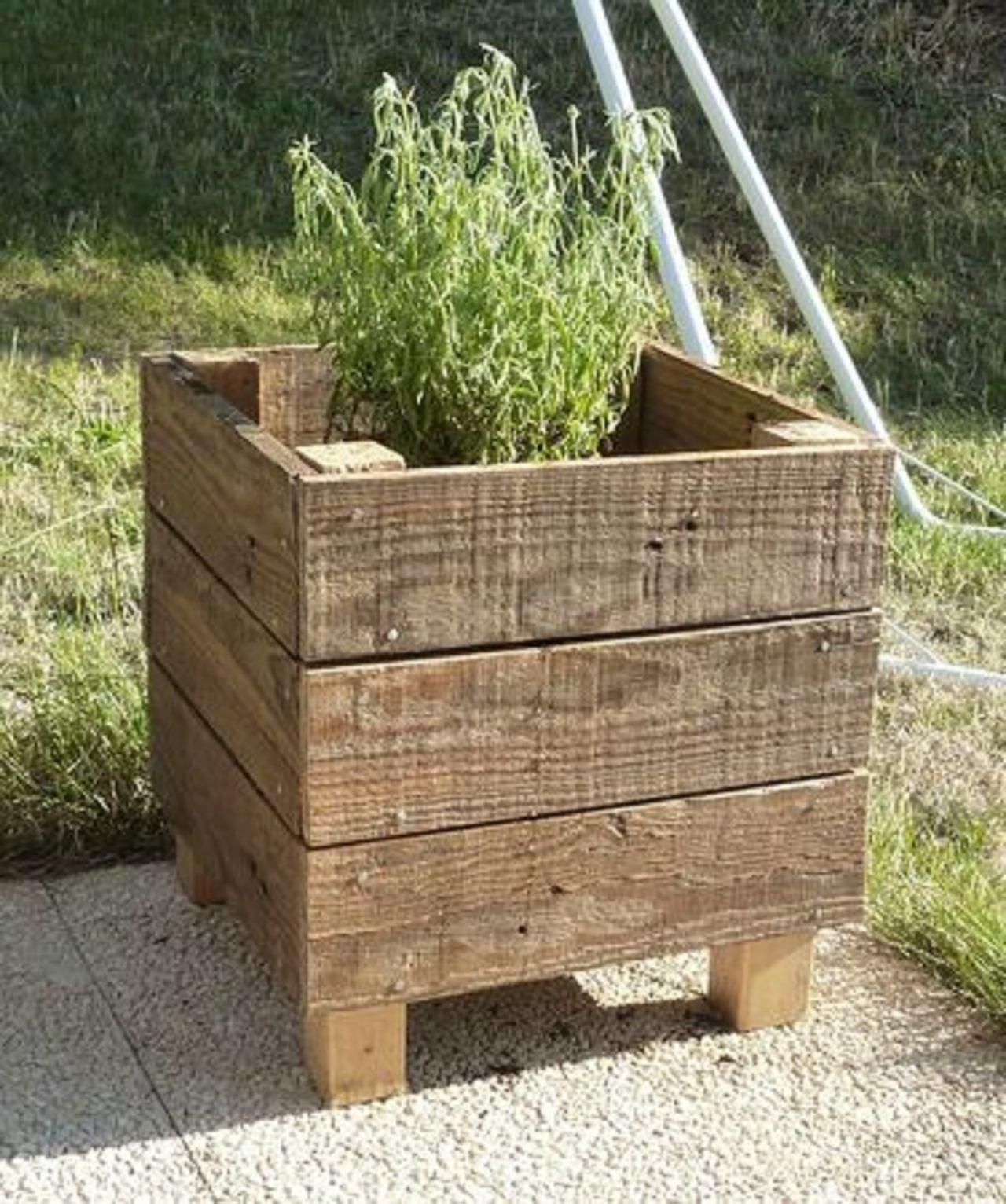 Bloembakken Van Pallethout Pallet Planter Box Wood Pallet Planters Pallets Garden