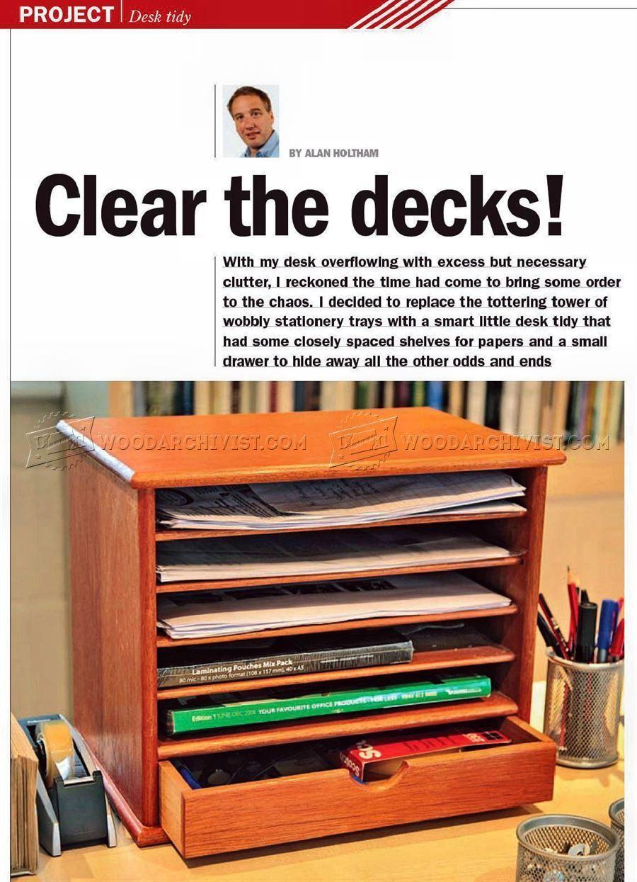Wooden Desk Tidy Plans Woodworking Plans Wooden desk