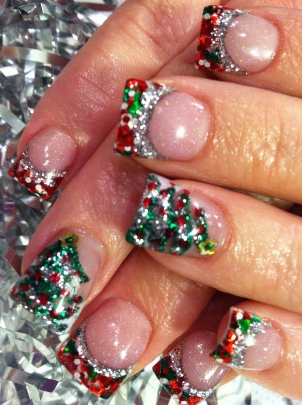 Christmas Themed Nail Art My Favorite Nails Pinterest Makeup