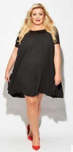 2546cc272404 Gemma-Collins-Malia-Black-Swing-Dress-Size-18-BNWT | Fashion ...