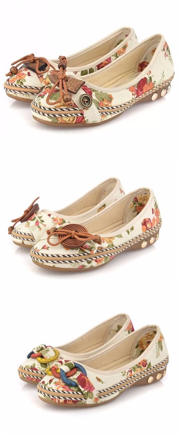Bowknot Flowers Slip On Flats free shipping eastbay B2dmPbK