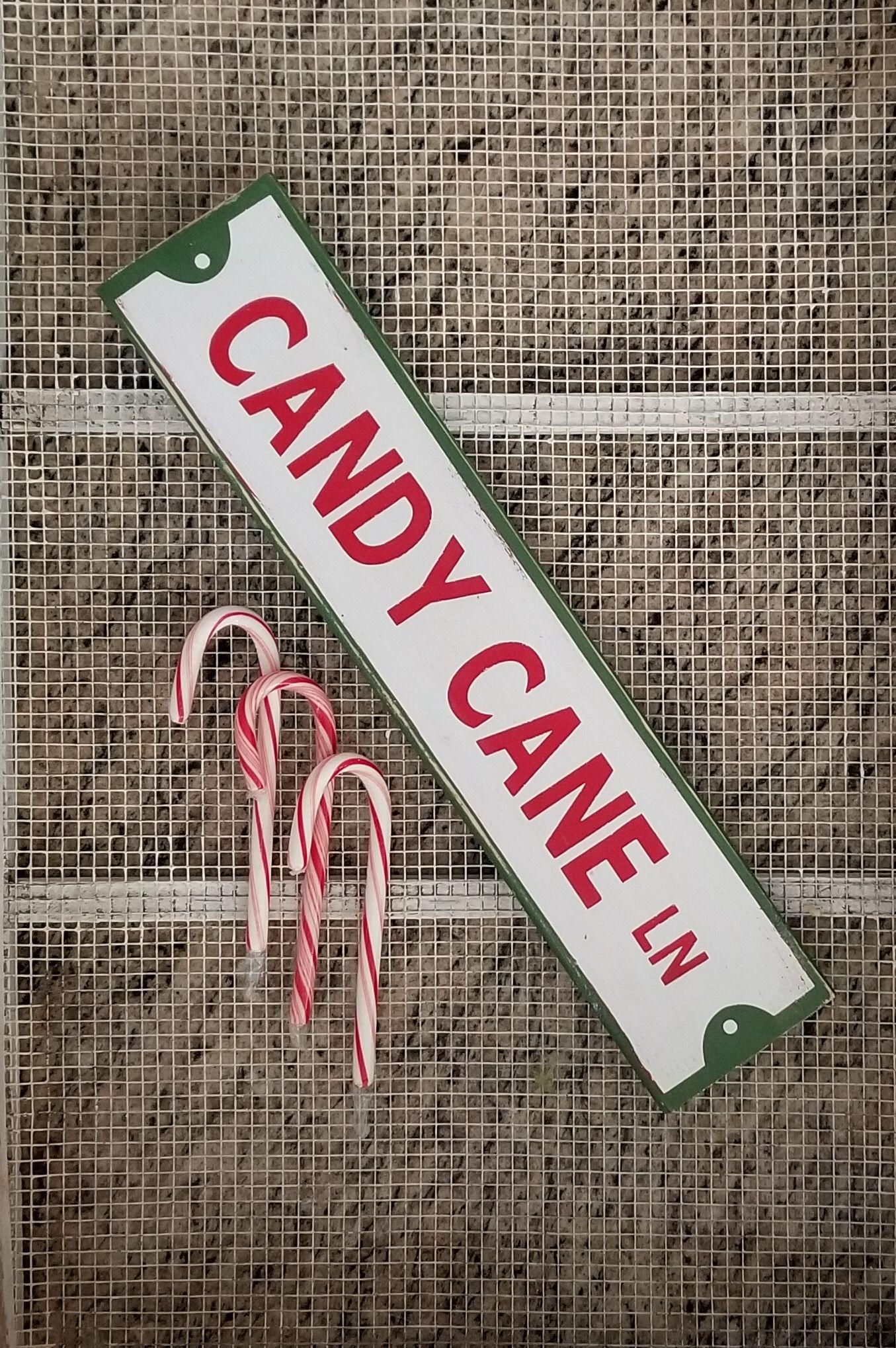 farmhouse Christmas home décor Christmas candy cane lane