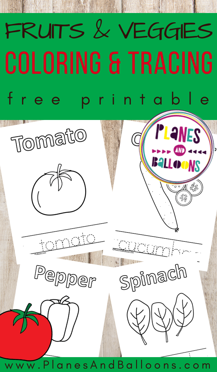 Fruits And Vegetables Tracing And Coloring Pages Kindergarten Coloring Pages Coloring Pages Vegetable Coloring Pages [ 1200 x 700 Pixel ]