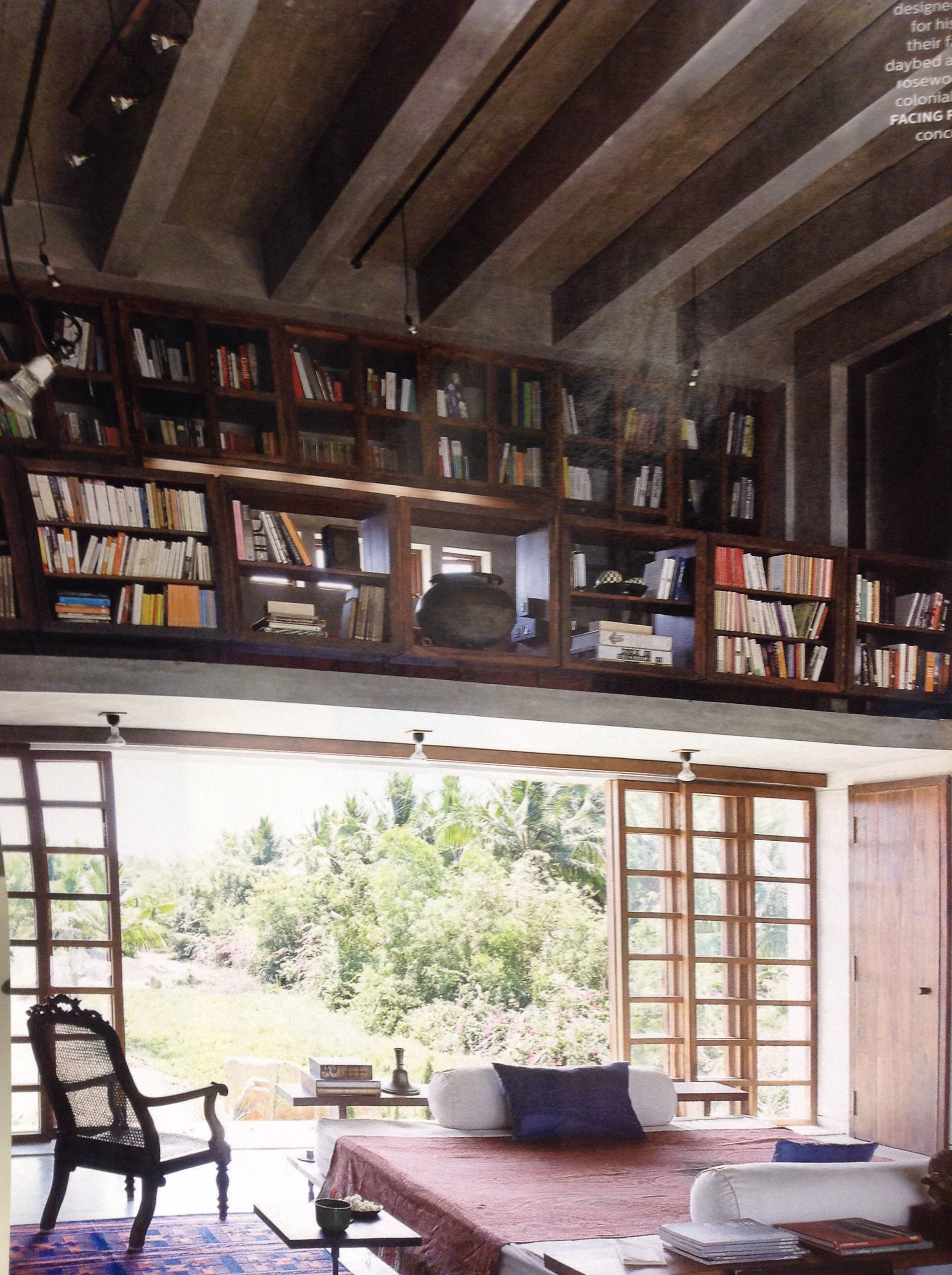 Home Library Loft: Open Library, Home, Home Decor