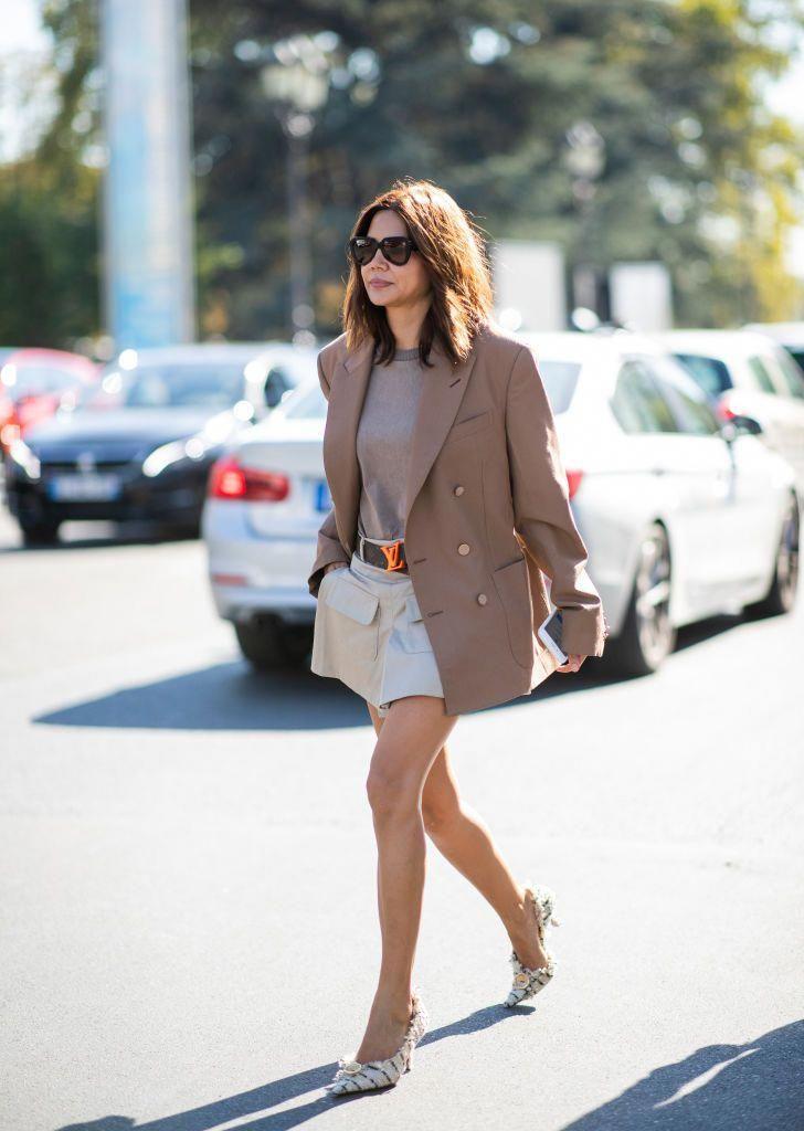 PARIS, FRANCE – SEPTEMBER 27: Christine Centenera is seen outside Paco Rabanne d…