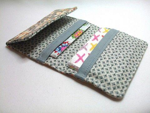 b472c24fd Passo a passo e moldes de carteiras de tecido | costura | Carteira ...