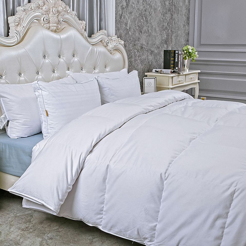 Peace Nest Extra Warmth King Goose Down Comforter In White Down