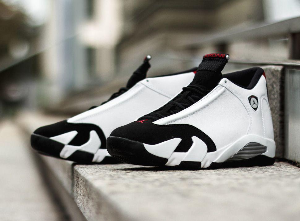 Air Jordan 14 Retro CDP Black True Red White shoes