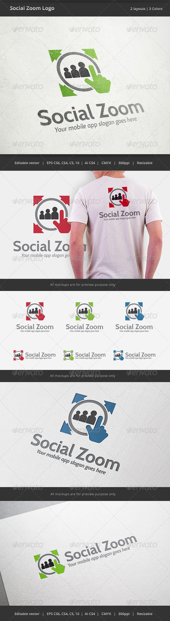 Soical Zoom Mobile Logo Mobile logo, Portfolio logo
