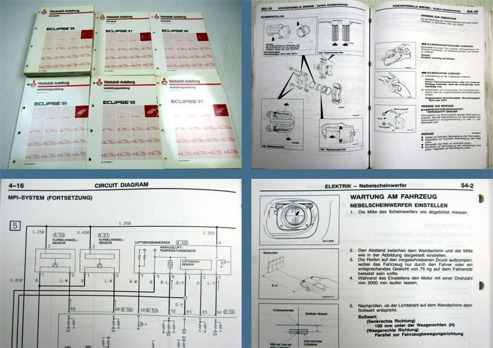 Werkstatthandbuch Mitsubishi Eclipse D30 Ab 1996 1999 Reparaturanleitung Autos Und Motorrader Fahrzeuge Sachbucher