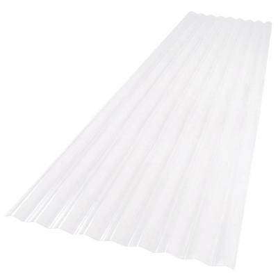 Palruf 26 In X 12 Ft Clear Pvc Roofing Panel 100427 The Home Depot With Images Roof Panels Pvc Roofing Corrugated Roofing