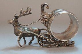 Beautiful ~ Reindeer Napkin Holder....Circa? Images