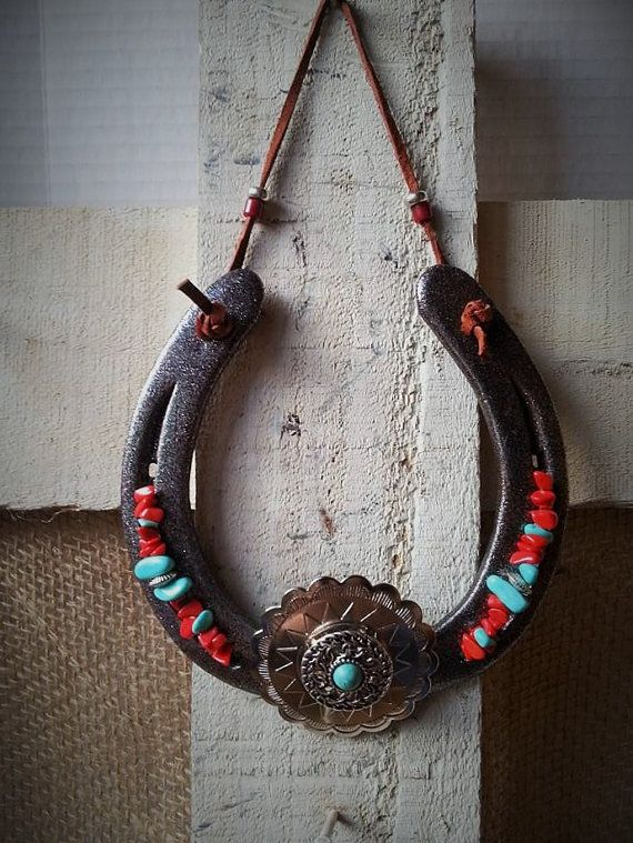 Decorated Horseshoe Cowgirl Gifts Horse shoe by Whoagirldesigns