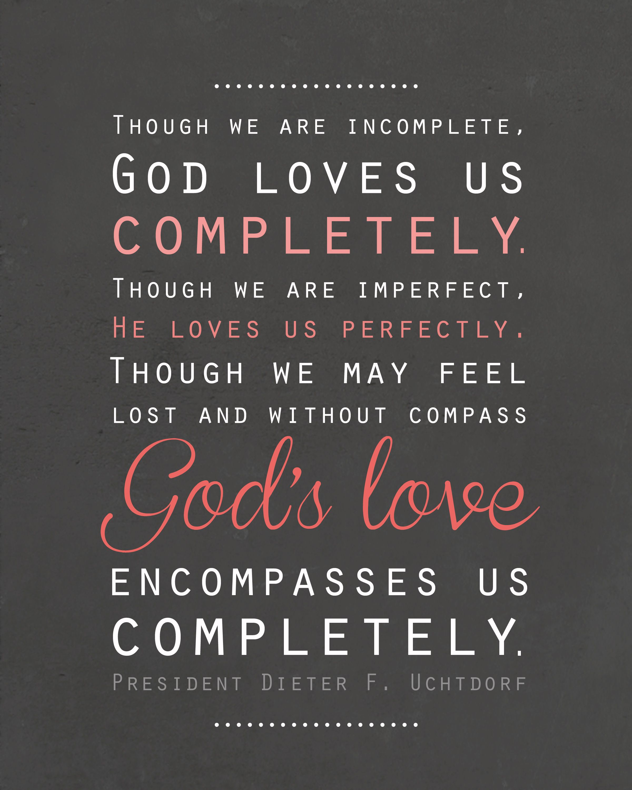 God's Love Quotes Free Lds Printable Artwork  Pinterest  Free Churches And