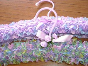 Lovely Frilly Coat Hangers Very Vintage Looking