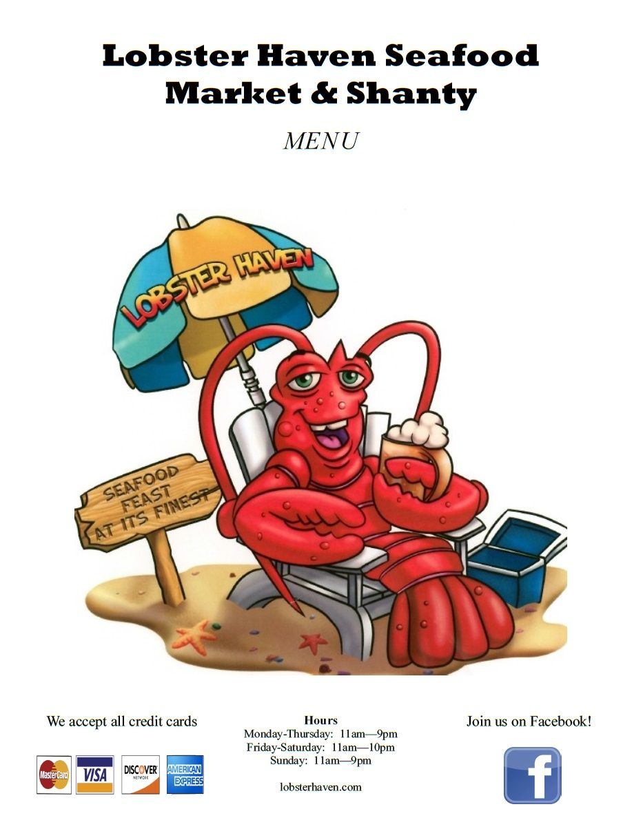 Lobster Haven Menu Tampa (near Oldsmar), Florida