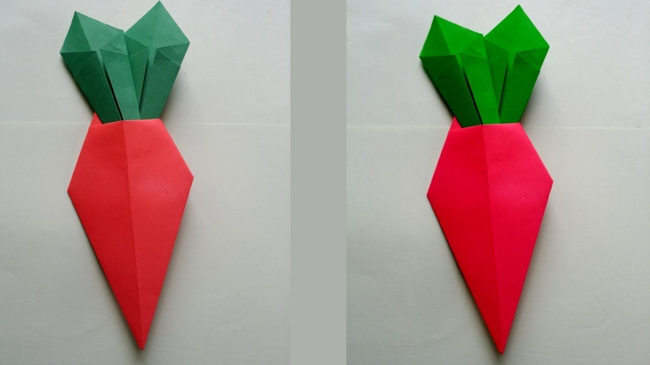 Diy How To Make Easy Origami Carrot Origami Easy Origami Diy