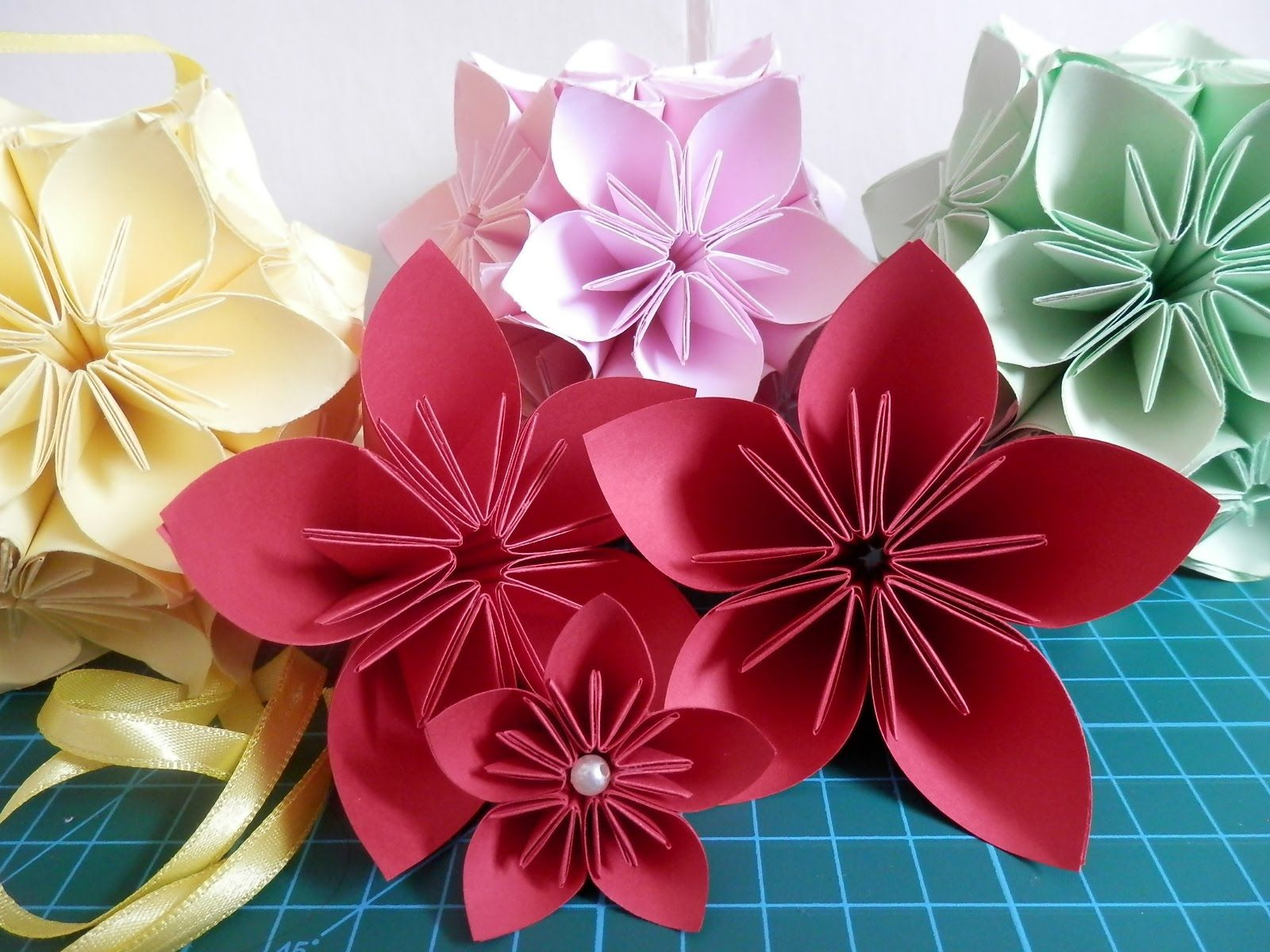 Flor Origami Crafty Pinterest Origami Origami Videos And