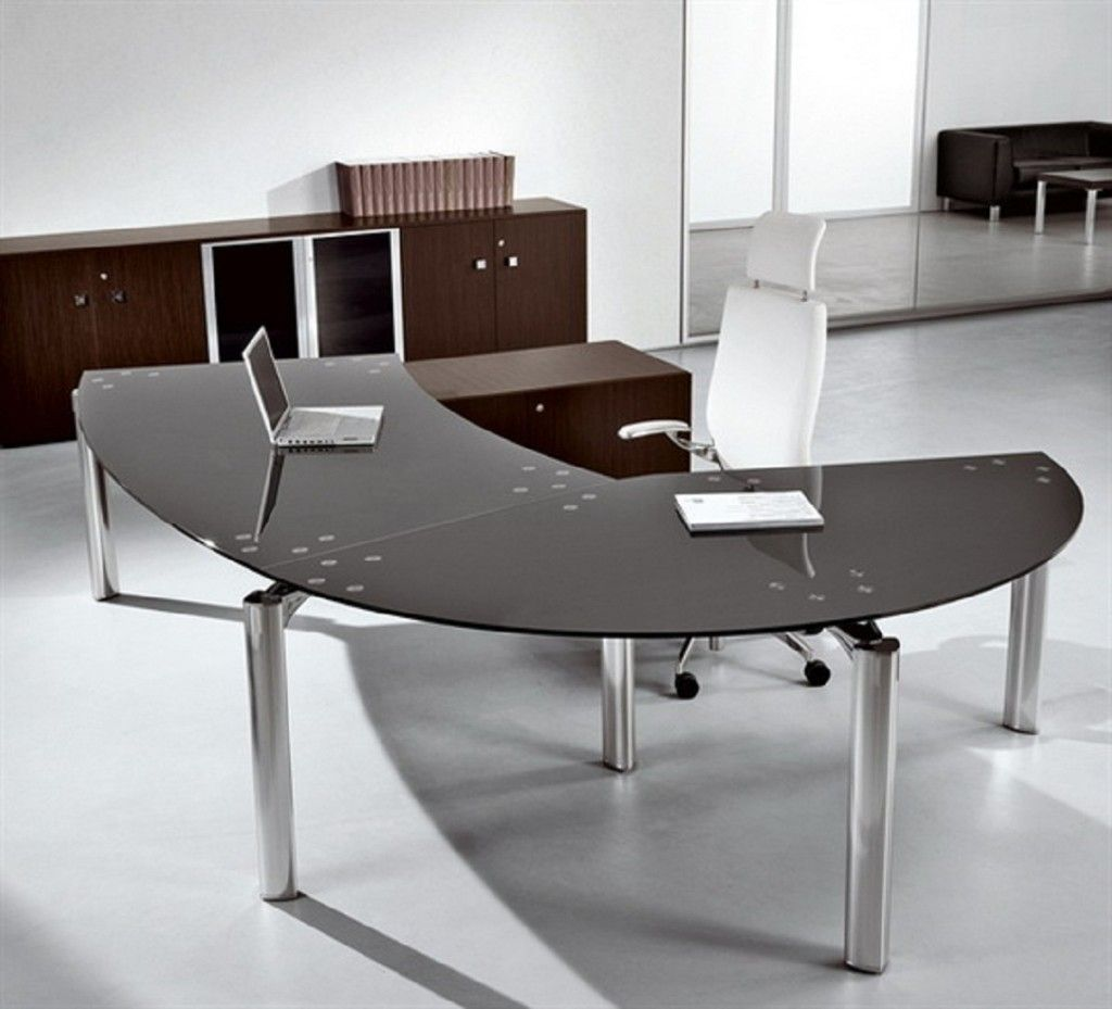 Small Curved Office Desk