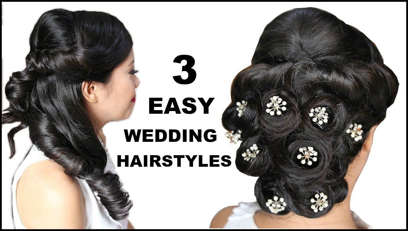 3 easy & elegant bridal hairstyles with mini wedding clips