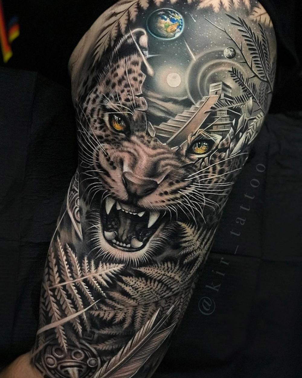 Amazon Jungle Sleeve Jungle Tattoo Jaguar Tattoo Best Sleeve Tattoos