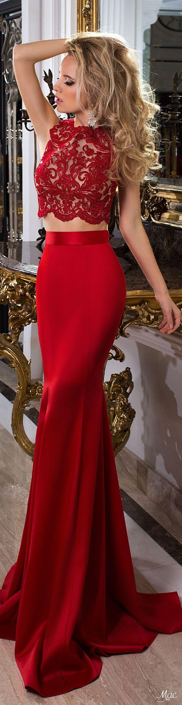 Vestidos de noche rojo 2018