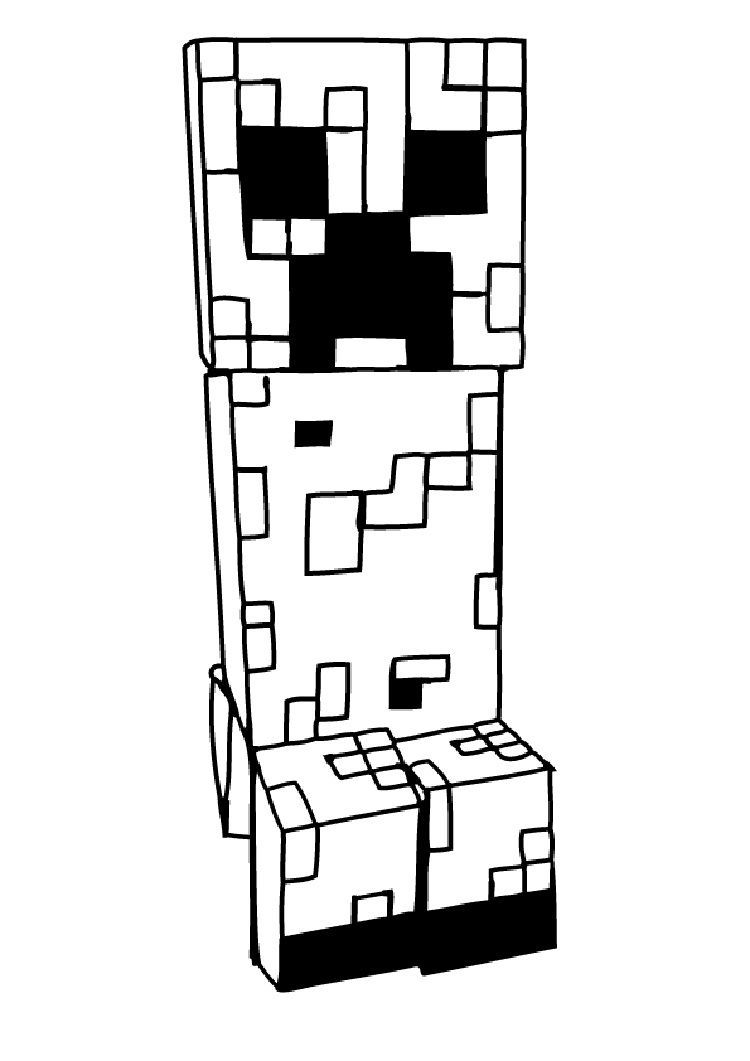Printable Minecraft Creeper Coloring Pages - Workberdubeat ...