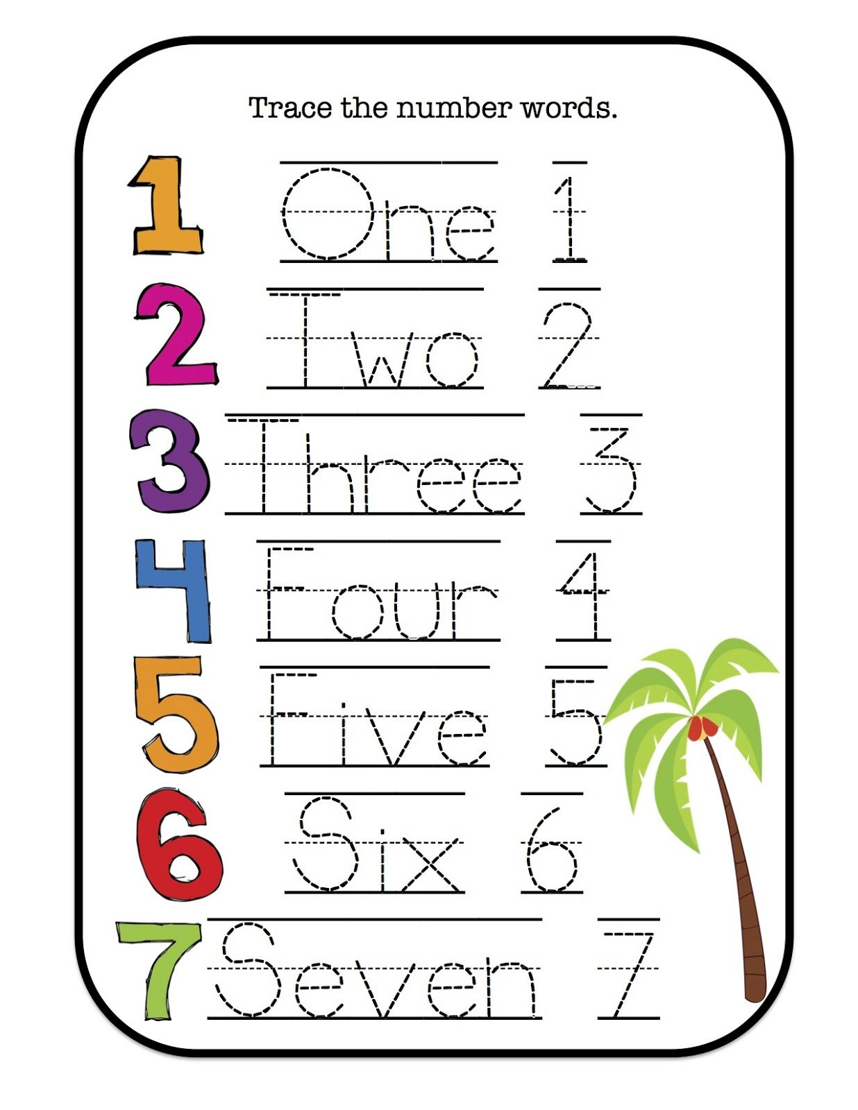 Preschool Printables Chicka Boom Number Cards